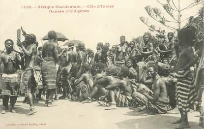 """CPA COTE D'IVOIRE """"Danse indigène"""""""