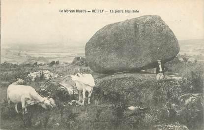 "CPA FRANCE 71 ""Dettey, La pierre branlante""."