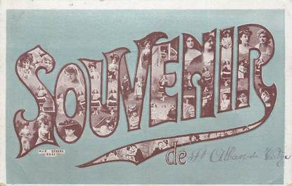 "CPA FRANCE 38 "" St Alban Leysse, Souvenir""."