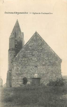 """CPA FRANCE 14 """" Fontenailles, L'église""""."""