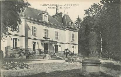 """CPA FRANCE 61 """"St Denis sur Sarthon, Château du Fault""""."""