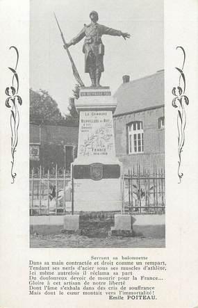 """CPA FRANCE 62 """" Bienvillers au Bois, Le monument aux morts""""."""