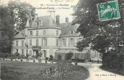 "CPA FRANCE 78 "" Brueil en Vexin, Le château""."
