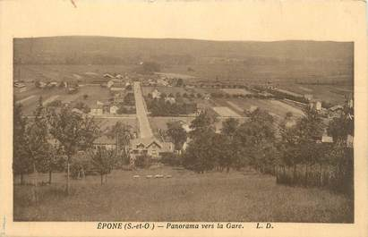 "CPA FRANCE 78 "" Epone, Panorama vers la gare""."