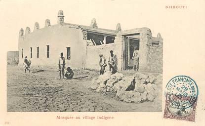 """CPA DJIBOUTI """"Mosquée au village indigène"""""""