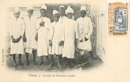 "CPA DJIBOUTI ""Groupe de Marmitons arabes"""