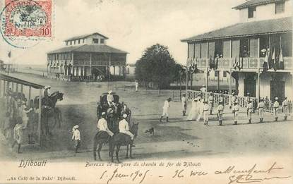 "CPA DJIBOUTI ""Bureaux de la gare du chemin de fer"""