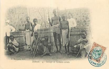 """CPA DJIBOUTI """"Groupe de Somalis armés"""""""