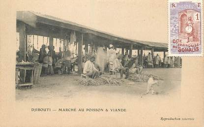 "CPA DJIBOUTI ""Marché au poisson & viande"""