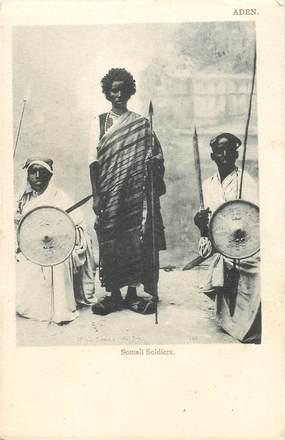 """CPA DJIBOUTI """"Soldat somali"""""""