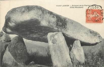 "CPA FRANCE 87 "" St Junien, Dolmen de la Pierre Levée"". / DOLMEN"