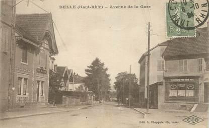 """CPA FRANCE 90 """" Delle, Avenue de la gare""""."""