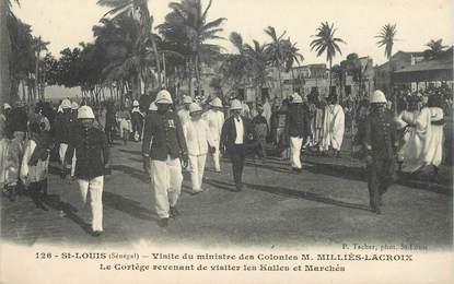 """CPA SENEGAL """"Saint Louis, visite du ministre des Colonies"""""""