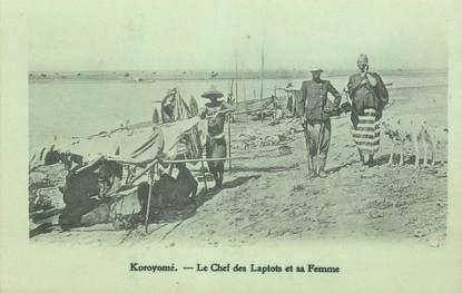 """CPA SOUDAN """"Koroyomé, le chef des Laptots et sa femme"""""""
