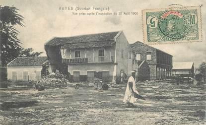 """CPA SOUDAN """"Kayes, vue prise après inondations de 1906"""""""