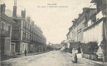 "CPA FRANCE 05 ""Gap, Bld Lamartine"""