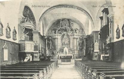 """CPA FRANCE 25 """" Déservillers, Intérieur de l'église""""."""