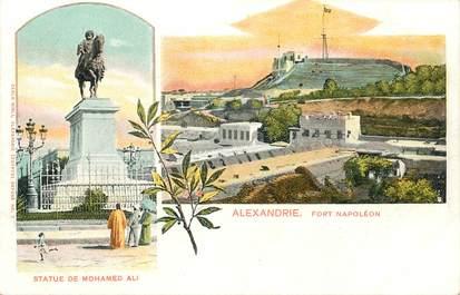 """CPA EGYPTE """"Alexandrie, statue de Mohamed Ali"""""""
