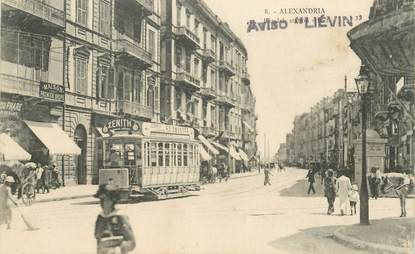 """CPA EGYPTE """"Alexandrie"""" / TRAMWAY"""