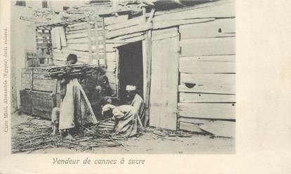 """CPA EGYPTE """"Vendeur de cannes à sucre"""""""