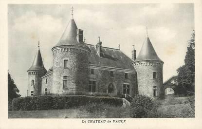 """CPA FRANCE 63 """"Vaulx, Le château""""."""