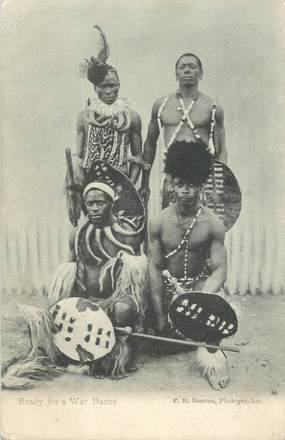 """CPA AFRIQUE NOIRE """"Danse de guerre"""""""