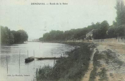 """CPA FRANCE 78 """"Denouval, Bords de la Seine""""."""
