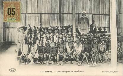 """CPA GABON """"Ecole indigène de Tchimpèze"""""""
