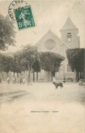 """CPA FRANCE 94 """"Chennevières, L'église""""."""