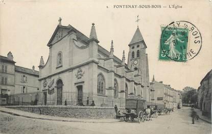 """CPA FRANCE 94 """"Fontennay sous Bois, L'église""""."""
