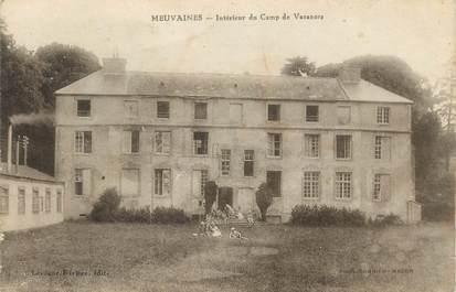 """CPA FRANCE 14 """" Meuvaines, Intérieur du camp de vacances""""."""