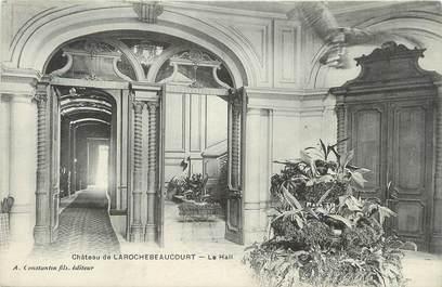 "CPA FRANCE 24 "" Larochebeaucourt, Le hall du château""."
