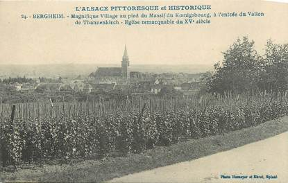"""CPA FRANCE 68 """" Bergheim""""."""