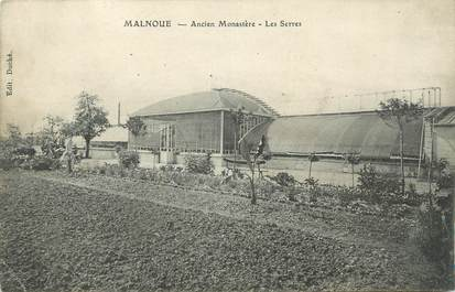 """CPA FRANCE 77 """" Malnoue, Ancien monastère, les serres""""."""