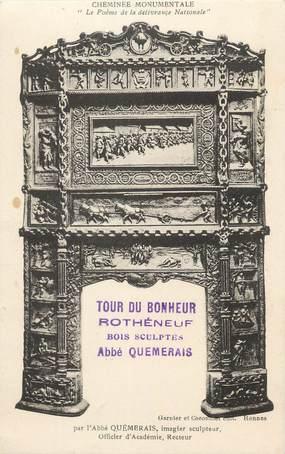 """CPA FRANCE 35 """"Rothéneuf, Cheminée monumentale""""."""