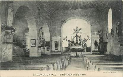 """CPA FRANCE 49 """" Concourson, Intérieur de l'église""""."""
