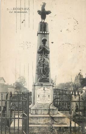 """CPA FRANCE 55 """" Ecouviez, Le monument aux morts""""."""