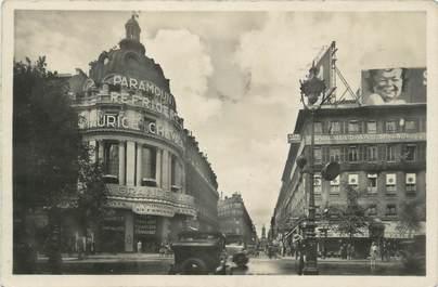 """CPSM FRANCE 75 """"Paris 9ème, Les grands boulevards, la rue de la chaussée d'Antin et le Paramount""""."""