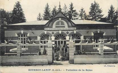 """CPA FRANCE 71 """" Bourbon Lancy, Potinière de la Reine""""."""