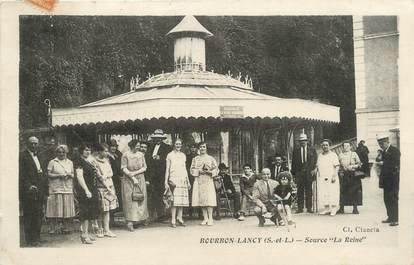 """CPA FRANCE 71 """" Bourbon Lancy, Source de la Reine""""."""