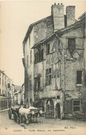 "CPA FRANCE 71 "" Cluny, Vieille maison, Rue Lamartine""."
