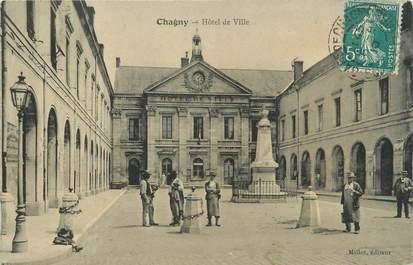"""CPA FRANCE 71 """" Chagny, Hôtel de Ville""""."""