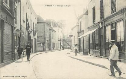 """CPA FRANCE 71 """" Chagny, Rue de la gare""""."""