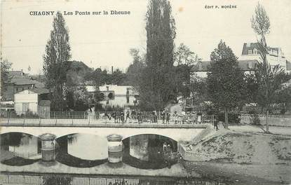 """CPA FRANCE 71 """" Chagny, Les Ponts sur la Dheune""""."""