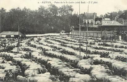 """CPA FRANCE 71 """" Autun, Foire de la St Ladre""""."""