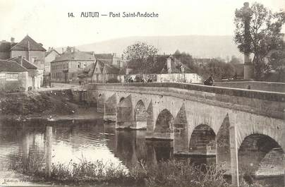 """CPA FRANCE 71 """" Autun, Pont St Andoche""""."""