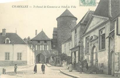 """CPA FRANCE 71 """" Charolles, Tribunal de Commerce et Hôtel de Ville""""."""