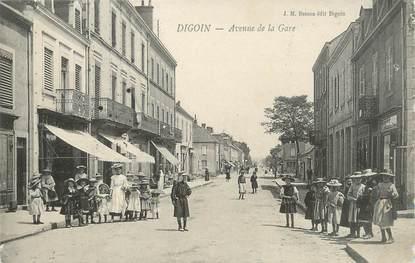 """CPA FRANCE 71 """" Digoin, Avenue de la gare""""."""
