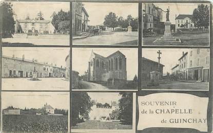 "CPA FRANCE 71 "" La Chapelle de Guinchay, Vues""."
