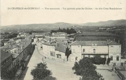"""CPA FRANCE 71 """" La Chapelle de Guinchay, Vue générale""""."""